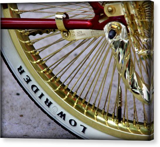 Low Rider In Maroon And Gold Canvas Print by Tam Graff