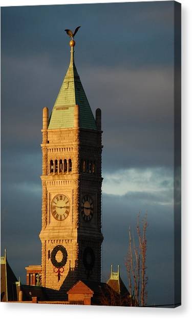 Lowell Clock Tower Canvas Print