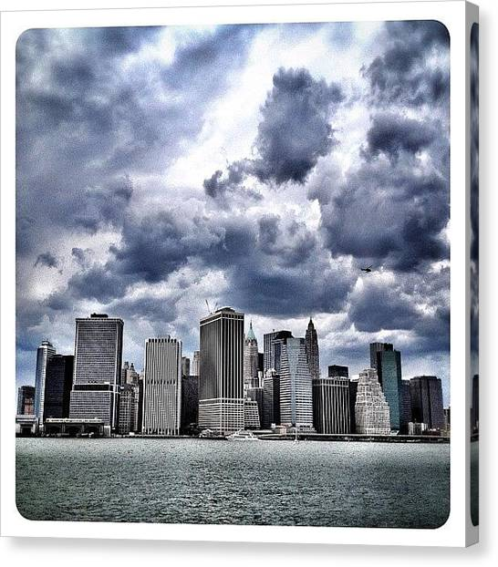 Skyscrapers Canvas Print - Lower Manhattan Skyline by Natasha Marco