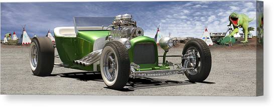 Street Rods Canvas Print - Lowrider At Painted Desert 2 by Mike McGlothlen