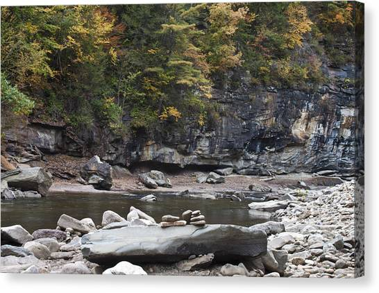 Loyalsock Creek In The Fall Canvas Print