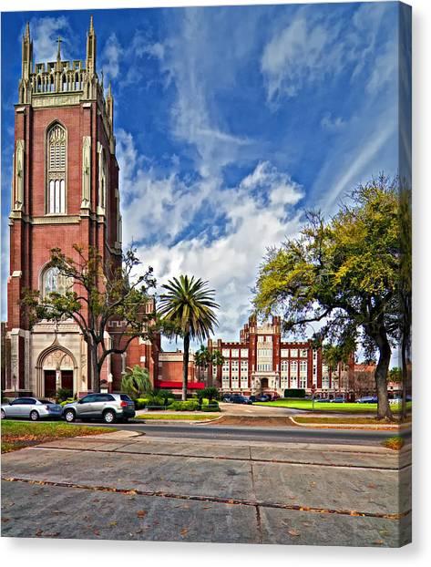 Mvc Canvas Print - Loyola University by Steve Harrington