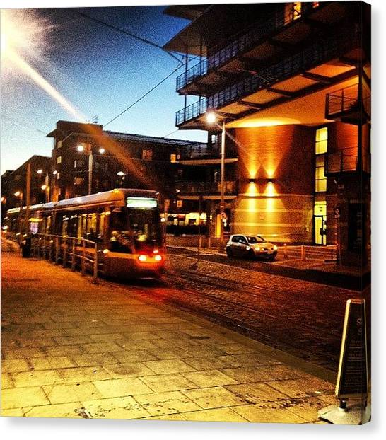 College Canvas Print - Luas Tram. #transport #tram #train by Fotocrat Atelier