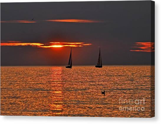 Red Maritime Dream Canvas Print