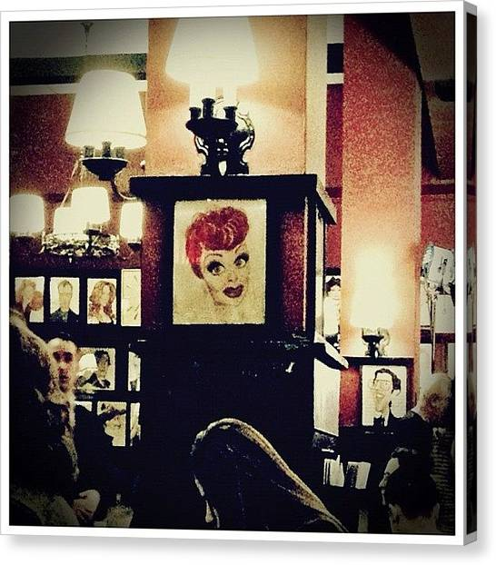 Restaurants Canvas Print - Lucille Ball by Natasha Marco