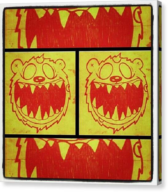Teeth Canvas Print - #luckyseven #sameshit #doodle #art by Dilaxo Gertron