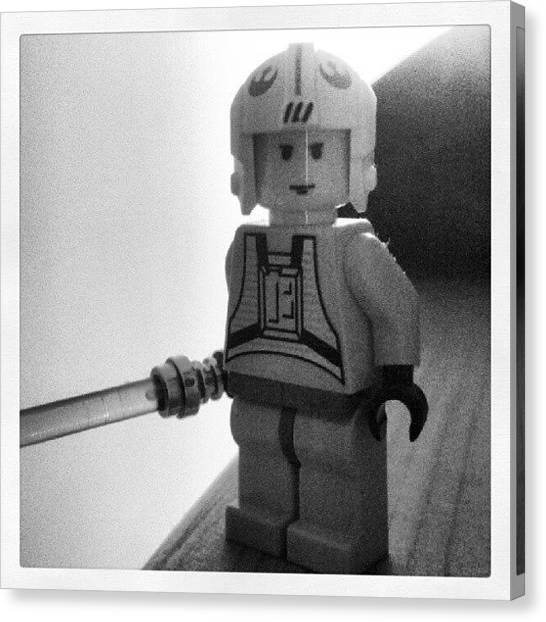 Luke Skywalker Canvas Print - Luke Lego by Mark Caporelli