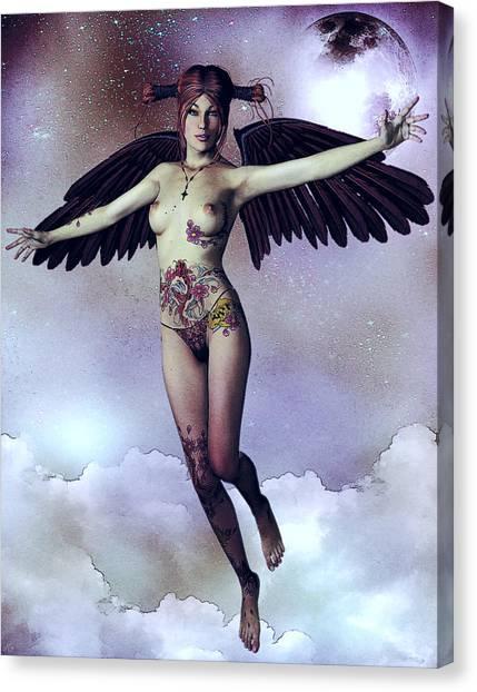 Luna Angelica Canvas Print by Maynard Ellis