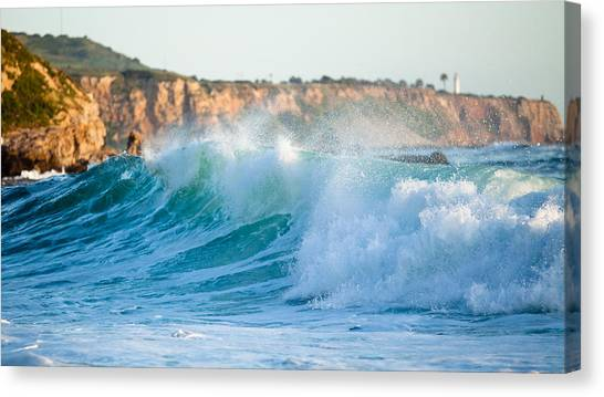 Lunada Bay Ocean Spray Canvas Print