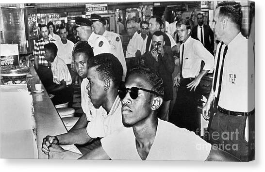 Lunch Counter Sit-in, 1961 Canvas Print by Granger