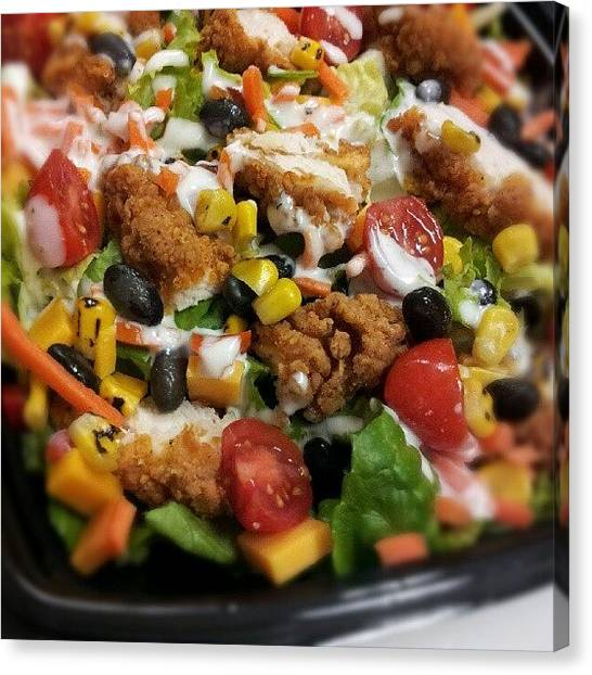 Salad Canvas Print - #lunch Time. #lunch Time. I Made A by Travis Albert