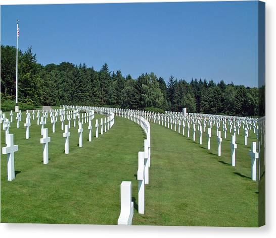 Luxembourg World War II American Cemetery  Canvas Print