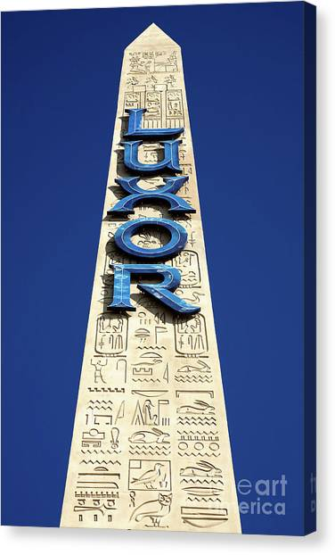 Luxor Las Vegas Obelisk Canvas Print