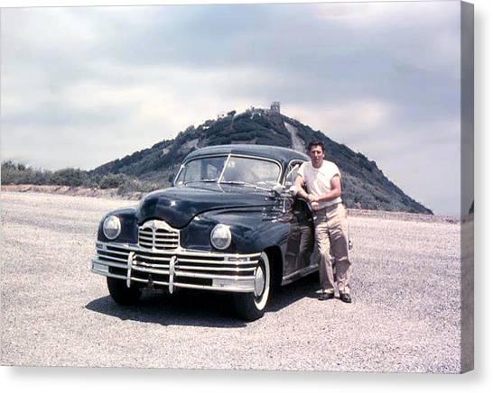 Lynn And His Packard Canvas Print