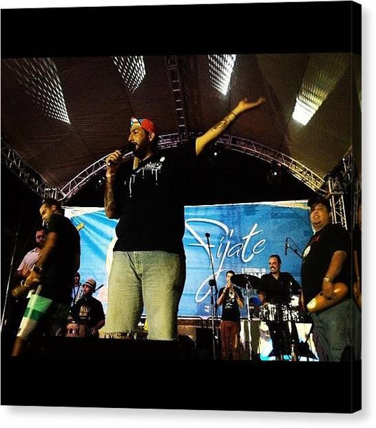 Salsa Canvas Print - Macabeo @fijate2012 #macabeo #salseros by Edda Garcia
