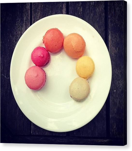 Rainbows Canvas Print - Macaroons by Nic Squirrell