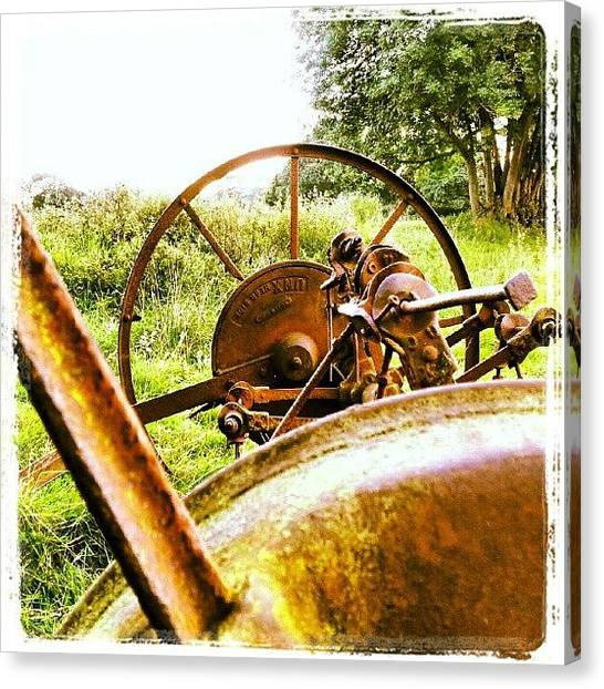 Tractors Canvas Print - Machine by Dave Harris