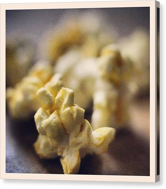 Popcorn Canvas Print - #macro #macro_insanity #popcorn by Mark Gonyea