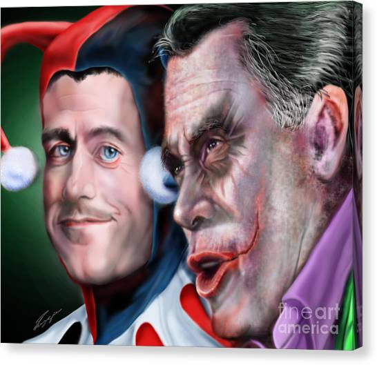 Republican Politicians Canvas Print - Mad Men Series  4 Of 6 - Romney And Ryan by Reggie Duffie