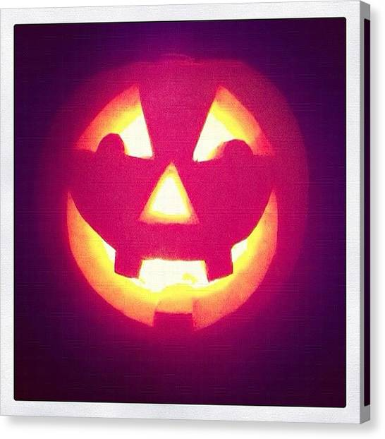 Pumpkins Canvas Print - Made This Today 🎃 #happyhalloween by Rob Harris