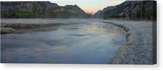 Yellowstone National Park Canvas Print - Madison River Before Sunrise by Twenty Two North Photography