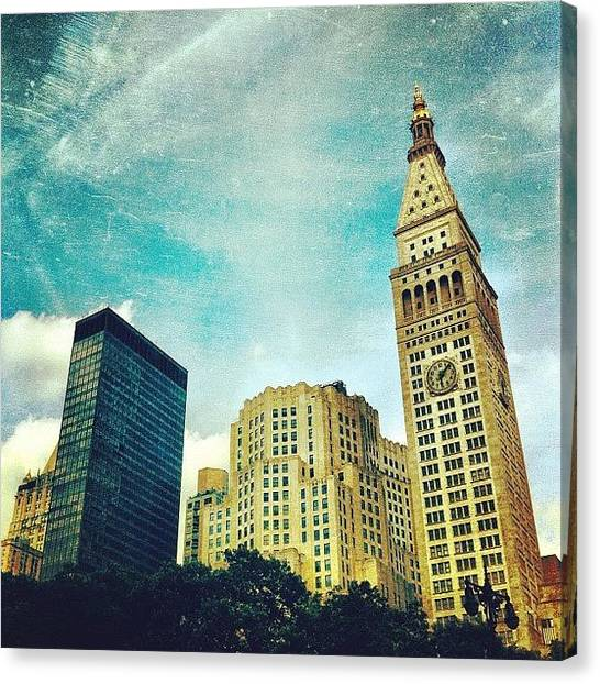 Skylines Canvas Print - Madison Square Park. #nyc #manhattan by Luke Kingma
