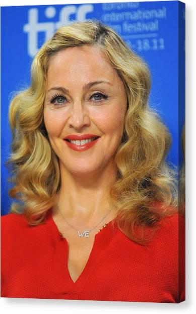 Toronto International Film Festival Tiff Canvas Print - Madonna At The Press Conference by Everett