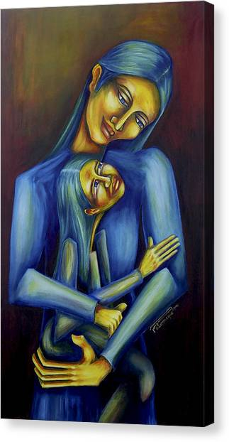Madre E Hija Canvas Print