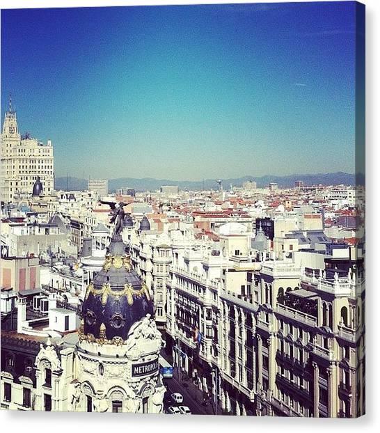 Metropolis Canvas Print - Madrid II #metropolis by Oscar Caro