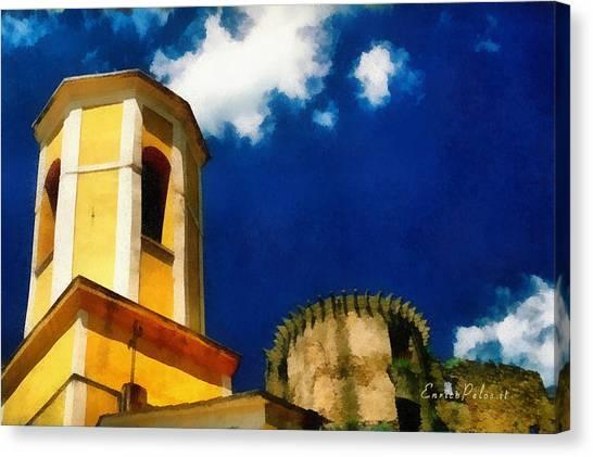 Madrignano Castello E Campanile Canvas Print