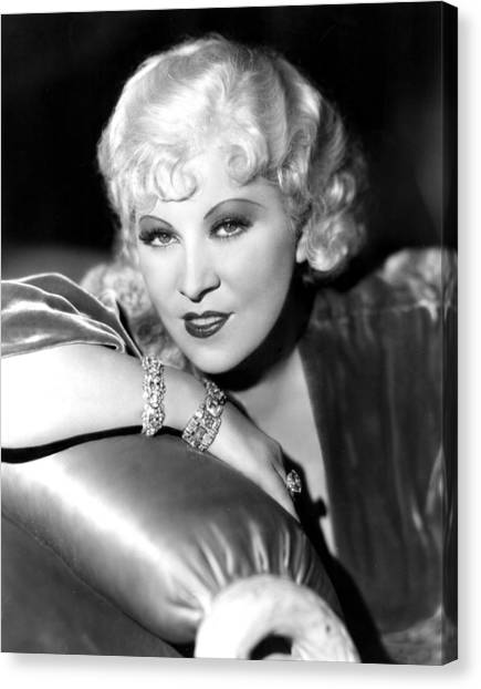 Mae West, Portrait Canvas Print by Everett