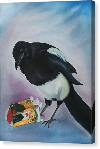 Mag Pie Canvas Print by Amy Reisland-Speer