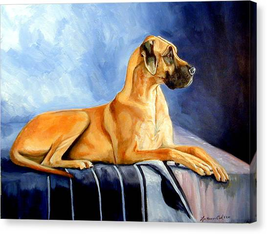 Great Danes Canvas Print - Magesty Great Dane by Lyn Cook