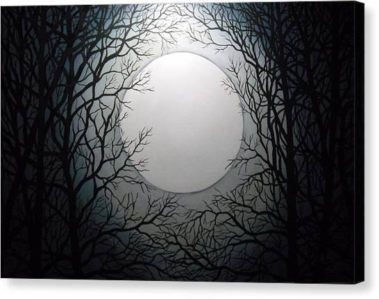 Magic Moon Canvas Print by Anne Thomassen
