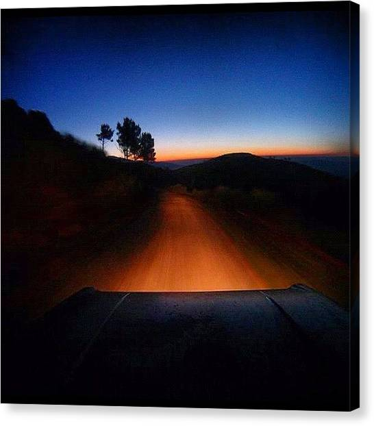 Offroading Canvas Print - #magic Of #shutterspeed #car #trail by Dhaval Patel