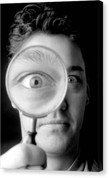 Magnified Eye Canvas Print by Victor De Schwanberg