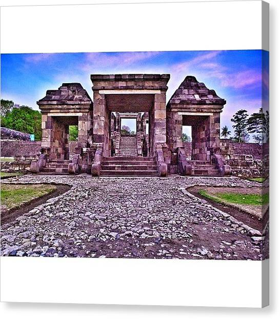 Beach Sunsets Canvas Print - Main Gate The First Of Three Terraces by Tommy Tjahjono