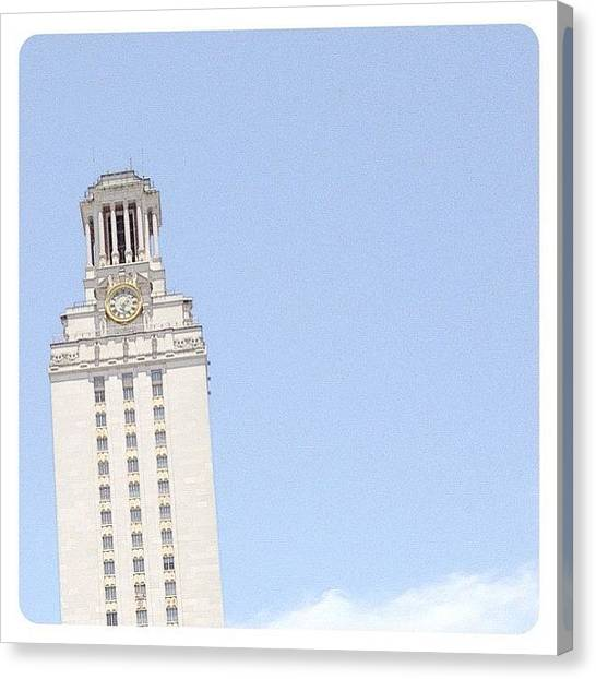 Austin Canvas Print - Main Hall Tower by Natasha Marco