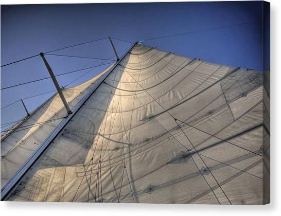 Main Sail Canvas Print by Barry R Jones Jr