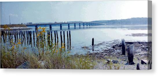 Maine Highway Canvas Print