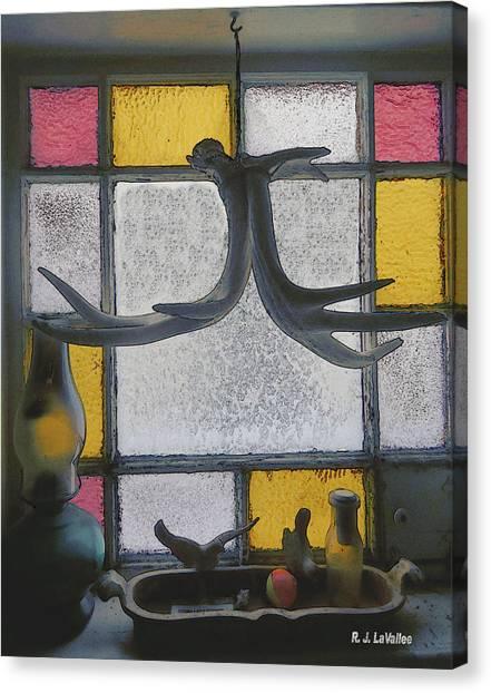 Maine Window In Winter Canvas Print