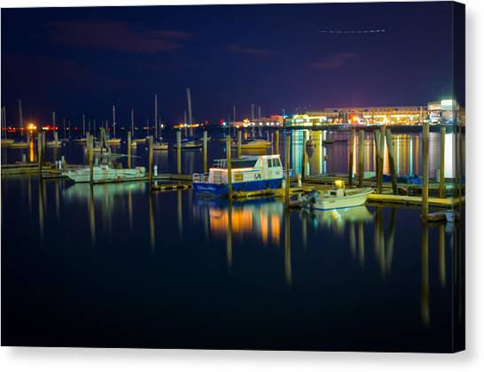 Majestic Boats Canvas Print by Erica McLellan