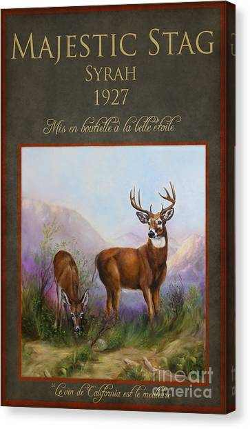 Majestic Stag Canvas Print by Stella Violano
