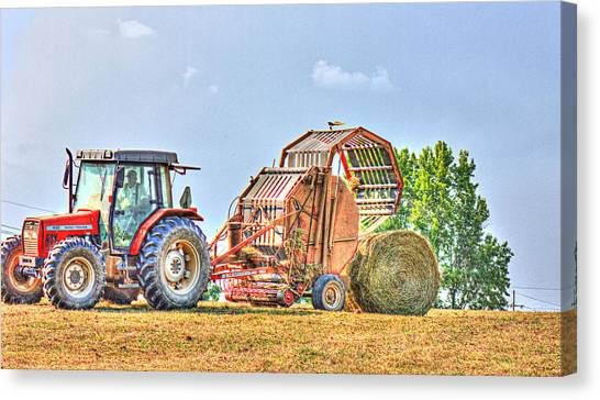 Making Hay Canvas Print by Barry Jones