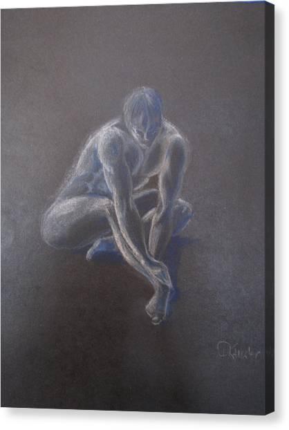 Male Figure In Contemplation Canvas Print