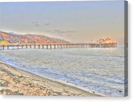 Malibu Pier North Canvas Print