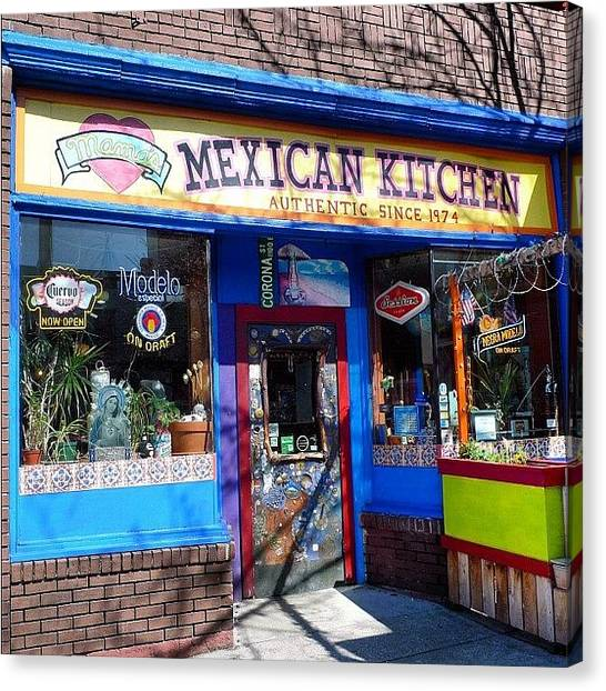 Seattle Canvas Print - Mama's Mexican Kitchen by T Catonpremise