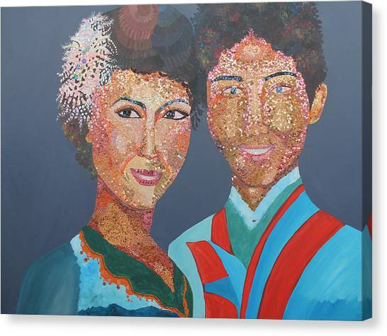 Man And  Wife Canvas Print by Mao Soviet and  phin Sophorn