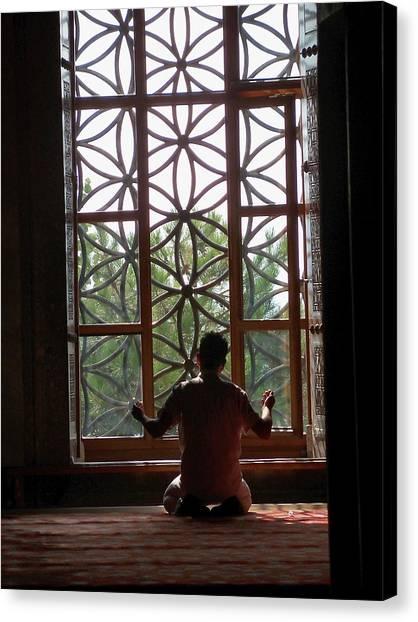 Man At Prayer Canvas Print