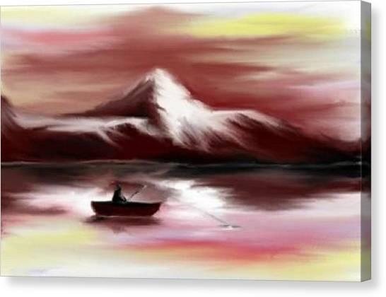 Man Fishing Canvas Print